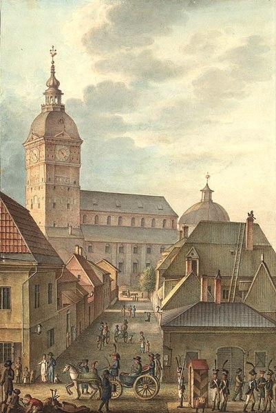 Turun tuomiokirkko Carl Ludvig Engelin vuonna 1814 maalaamassa akvarellissa.